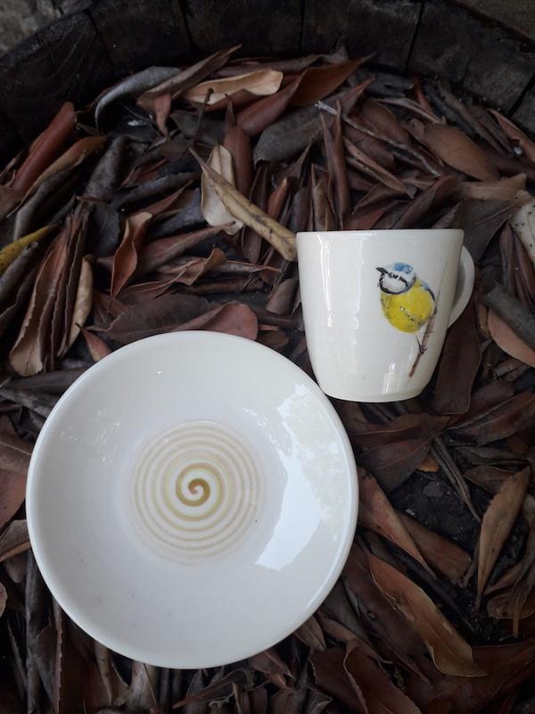 Blue tit espresso cup